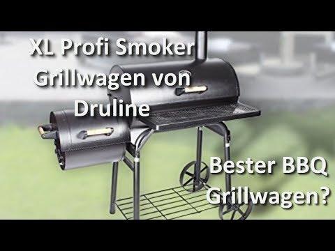 XL Profi Smoker Grillwagen von Druline - Bester Smoker BBQ Grill ?