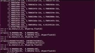 Python - Numpy empty, fill, zeros, ones, arange, genfromtxt