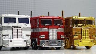 Transformers Optimus Prime vs Ultra Magnus Robot Truck Lego Bank Robbery & Police Car