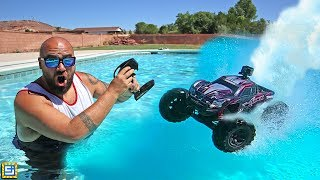 Driving Remote Control RC Cars Across The Water!!