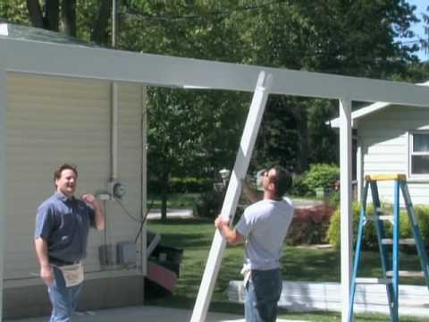 2 Teton Patio Cover Installation · Loweu0027s ...