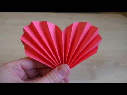 Как сделать сердце из бумаги своими руками. Подарок маме.