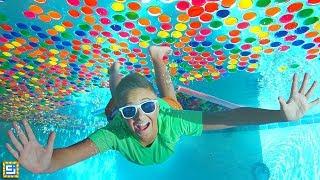 Giant Underwater Box Fort Super Wubble Bubble Swimming Pool Adventure!!