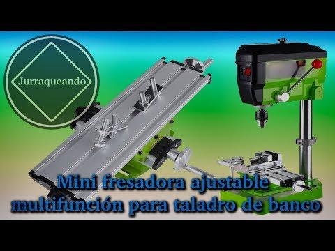 Mini fresadora ajustable multifunción para taladro de banco
