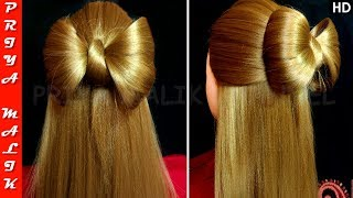 Cute Hair Bow Hairstyle - Easy Hair Tutorial | Priya Malik