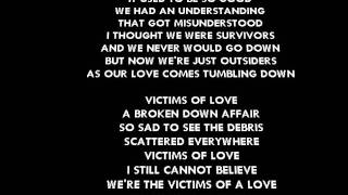 VICTIMS OF LOVE. (With correct lyrics) By Joe Lamont