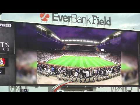 Apresentação do Corinthians no telão do EverBank Field