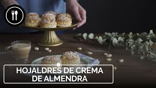 Hojaldres de Crema de almendra, el postre más fácil con almendras
