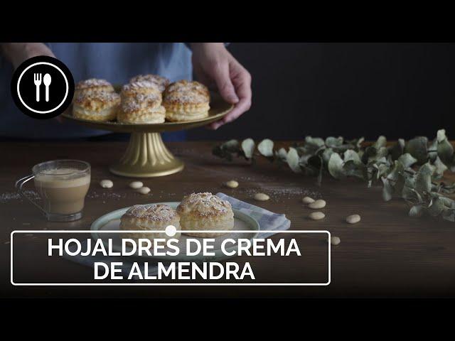 Hojaldres de Crema de almendra, el postre más fácil con almendras