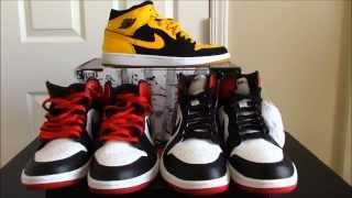"Comparison: Jordan 1 ""OLD LOVE"" (Black Toe)  vs. 2014 Jordan 1 ""Black Toe"""