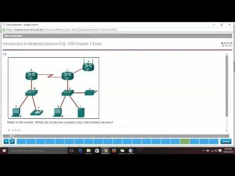 CISCO - CISCO Networking Academy ( CCNA 1 ) - Chapter 1 Exam ...