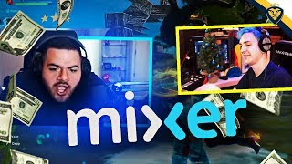 NINJA JOKES ABOUT SPENDING ALL HIS MIXER MONEY?! (Fortnite: Battle Royale)