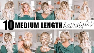 TEN Medium Length Hairstyles For Spring! || Twist Me Pretty