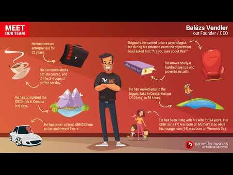 "Games for Business  - Meet Our Team: ""Balázs"""