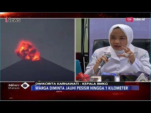 Konpers BMKG Terkait Aktifitas Gunung Anak Krakatau Berpotensi Tsunami Susulan - iNews Malam 25/12