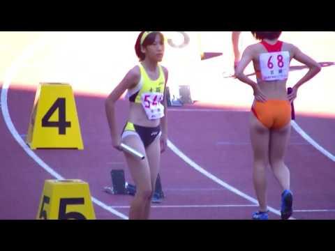 【Japanese girl track-and-field athlete】陸上中学生女子100m×4リレー予選6組 第46回ジュニアオリンピック陸上競技大会