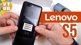 Смартфон Lenovo S5 4/64GB Black от компании Cthp - видео 2