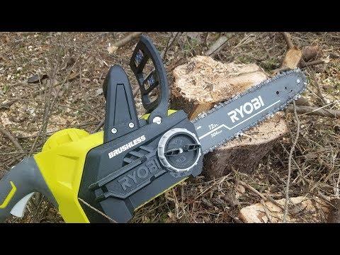 Ryobi One+ 18V Brushless Cordless 12″ Chainsaw Review