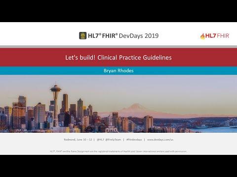 Bryan Rhodes - Let's build! Clinical Practice Guidelines | DevDays Redmond 2019