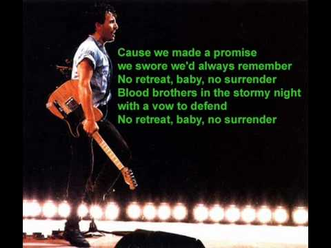 No Surrender - Bruce Springsteen & The E Street Band