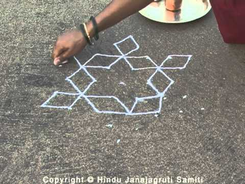 Hindu Customs – In which fingers should one hold the rangoli powder ?