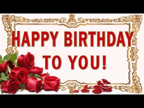 🎶💗HAPPY BIRTHDAY TO YOU!💗 SONG 💗Golden particles and  Beautiful  Red Roses!🎶💗Best greetings!