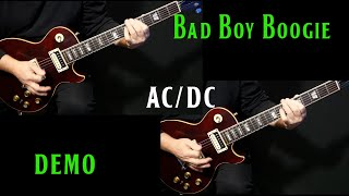 """how to play """"Bad Boy Boogie"""" on guitar by AC/DC 