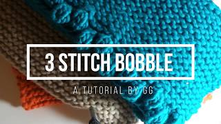 How to make a 3 Stitch Bobble