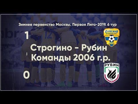 2006 г.р. Строгино - Рубин - 1:0 / Зимнее пер-во 2019 / Обзор