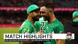 Melbourne Stars continued the Renegades' winless BBL season of woe, a brilliant half-century by Glenn Maxwell propelling the ladder leaders to a seven-wicket win over the reigning champions