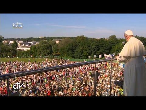Le pape François au sanctuaire de la Miséricorde divine à Cracovie (Pologne)