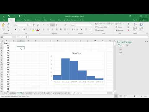 In this example you will learn how to create a histogram of heights.