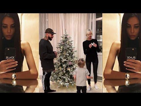 Тимати с семьей наряжает елку, Решетова ждет дома 😅
