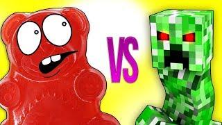 МАЙНКРАФТ VS ЖЕЛЕЙНЫЙ МЕДВЕДЬ ВАЛЕРА | СУПЕР РЭП БИТВА | Minecraft Creeper VS Gummy Bear Познаватель