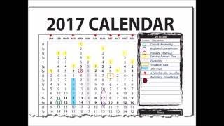 2017 Vertical Wall Calendar (for calendar year January to December)