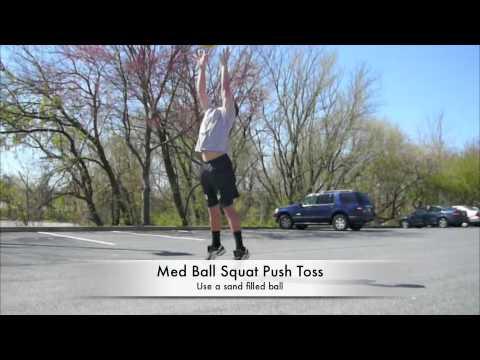 Medicine Ball Exercises - Squat Push Toss - Vertical Jump