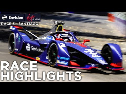 Formula E Santiago E-Prix Race Highlights! (Envision Virgin Racing)
