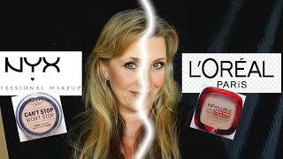 Nyx Powder Foundation VS L'ORÉAL Paris Infaillible 24H Fresh Wear Foundation Drogerie