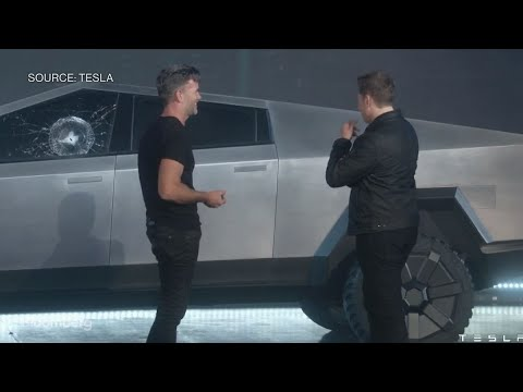 Watch the Tesla Cybertruck's Windows Get Smashed