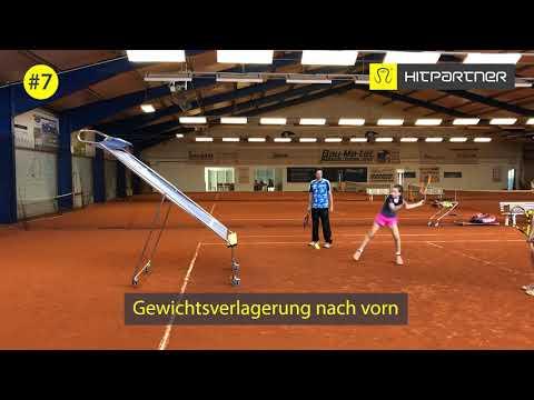 Tennistraining Übungen an der mobilen Tenniswand HitPartner