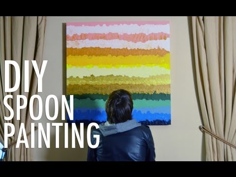 DIY Spoon Painting – Easy Home Decorating with Mr. Kate