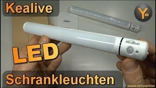 Kealive LED Schrankleuchten mit Bewegungsmelder