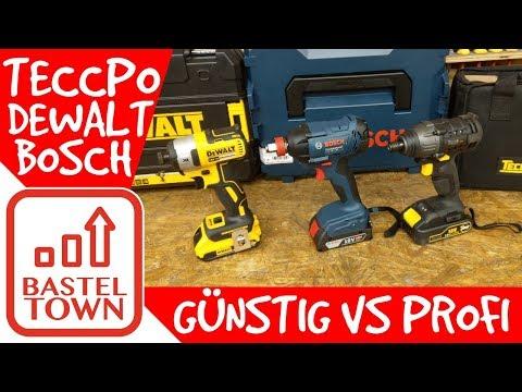 Akku-Schlagschrauber Vergleich: BOSCH & DEWALT VS TECCPO - Teuer vs. Günstig