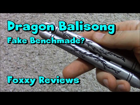 Foxxy Reviews: Dragon Butterfly Knife Trainer With Spring Latch (Fake Benchmade)