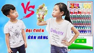 Đại Chiến Đồ Ăn Vặt Cổng Trường Phần 1 ♥ Min Min TV Minh Khoa