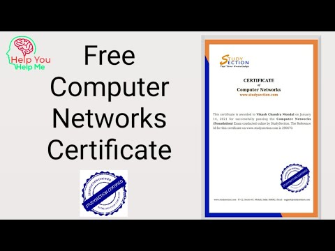 Computer Network Free Certificate | Free Certificate ... - YouTube