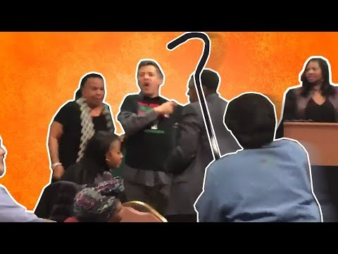 WHITE Bernie Bro Steals Microphone From Black Woman For Not Being Woke Enough