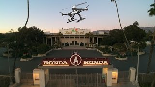 iDRONEuDRONE - Drone flying over The Rose Bowl in Pasadena, CA