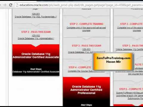 Oracle Certification Steps - Part 1 of 2 - YouTube