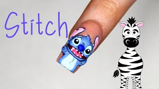 3D Stitch Acrylic Nail Art Tutorial | Disney Lilo And Stitch